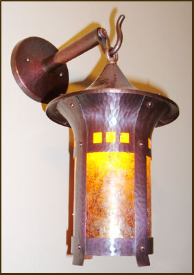 Craftsman Copper Flare Sconce