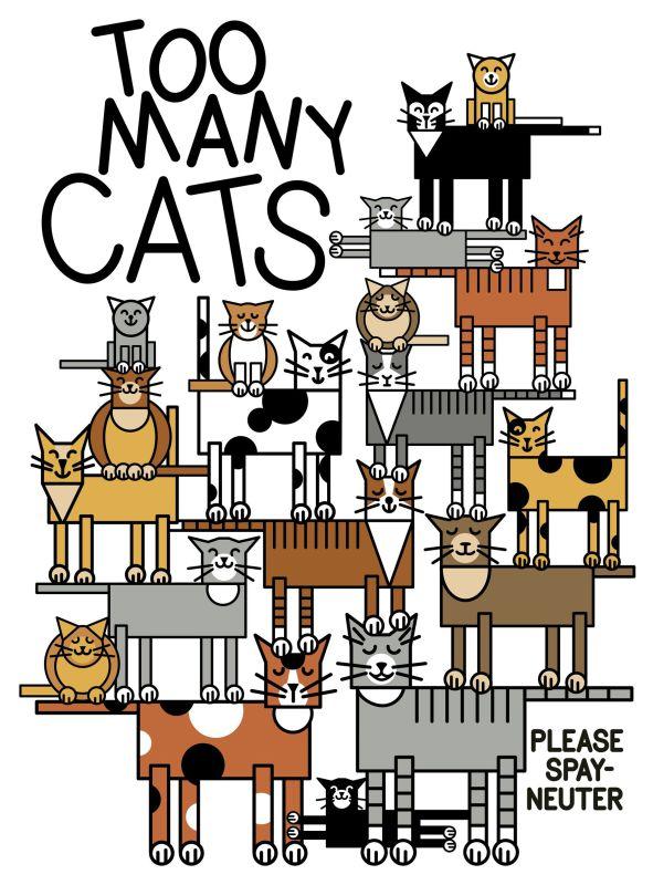 two many cats cartoon