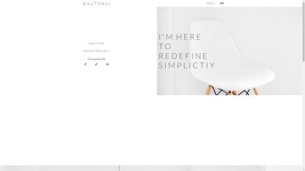 Billton Li Portfolio Website Redesign