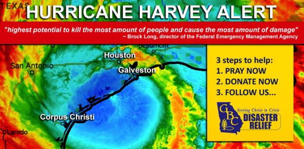 We are accepting donations for Harvey Relief through the month of September
