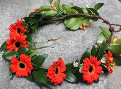 Gerbera Flower Crown