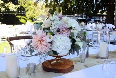 Premium Florals in Gold Pedestal