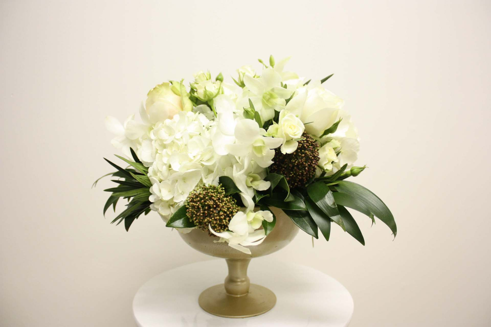 Gold Pedestal Arrangement