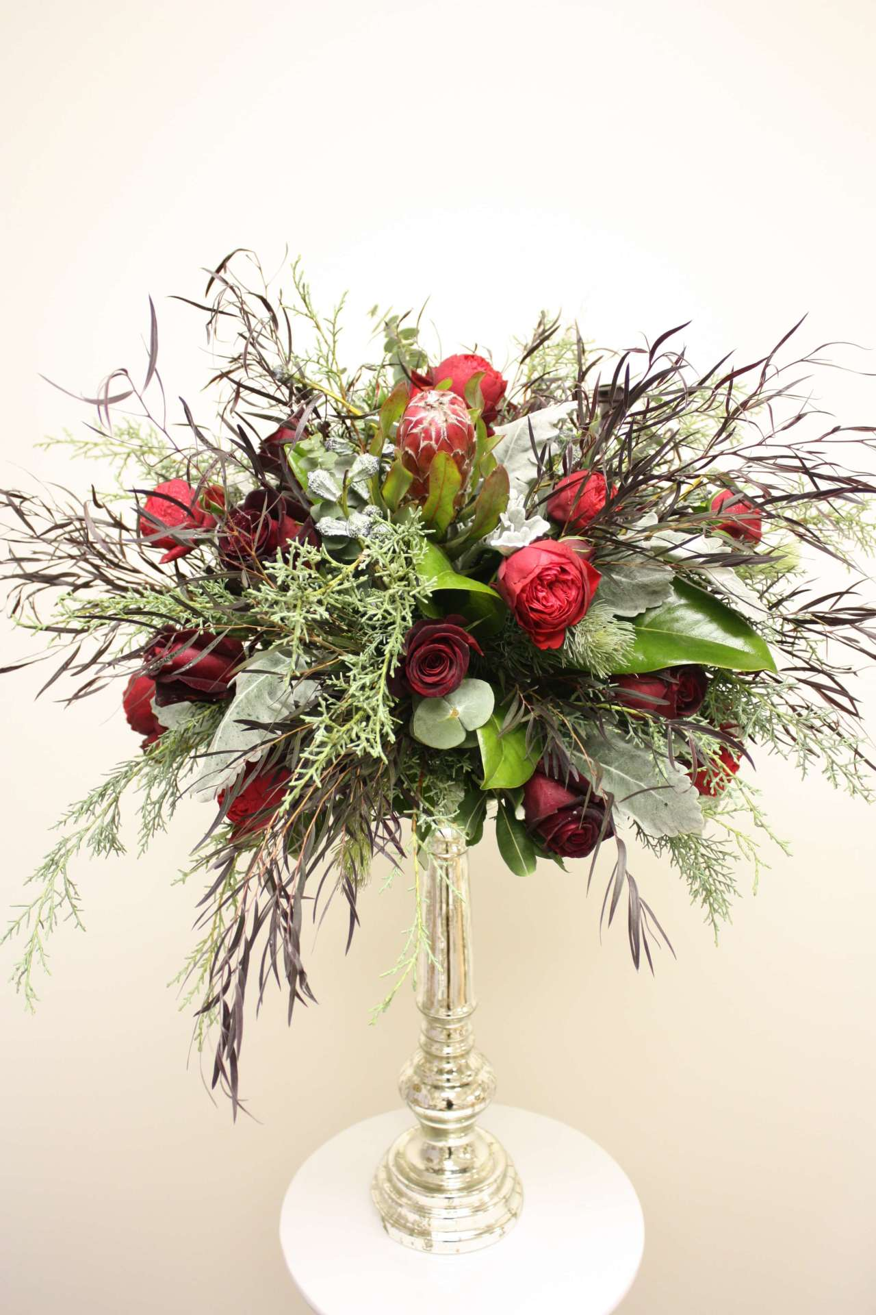 Red & Greenery Arrangement