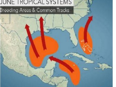 Tropical Systems Weather Map