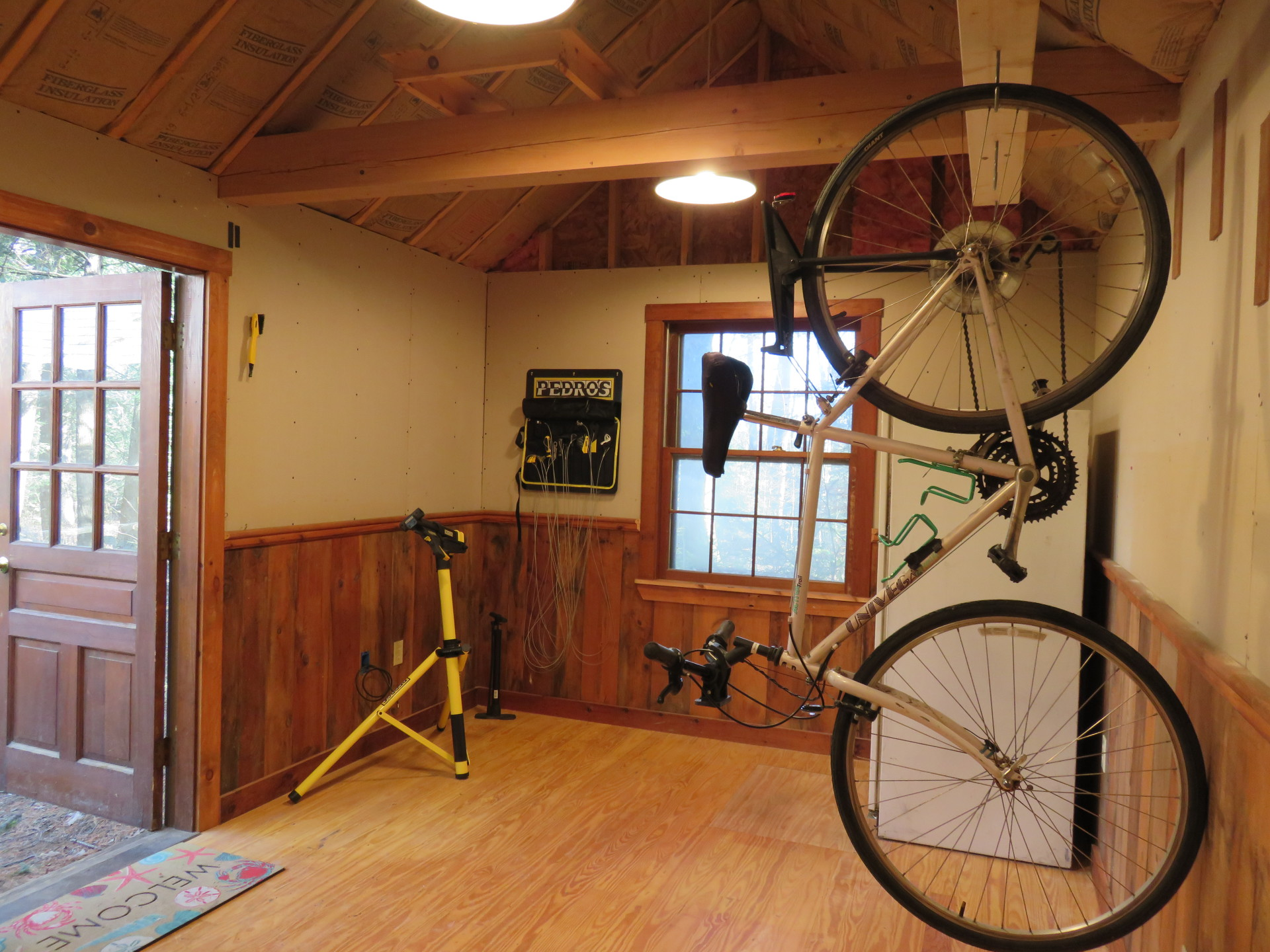 Progress on the Bike Shack at our Wiscasset Hotel
