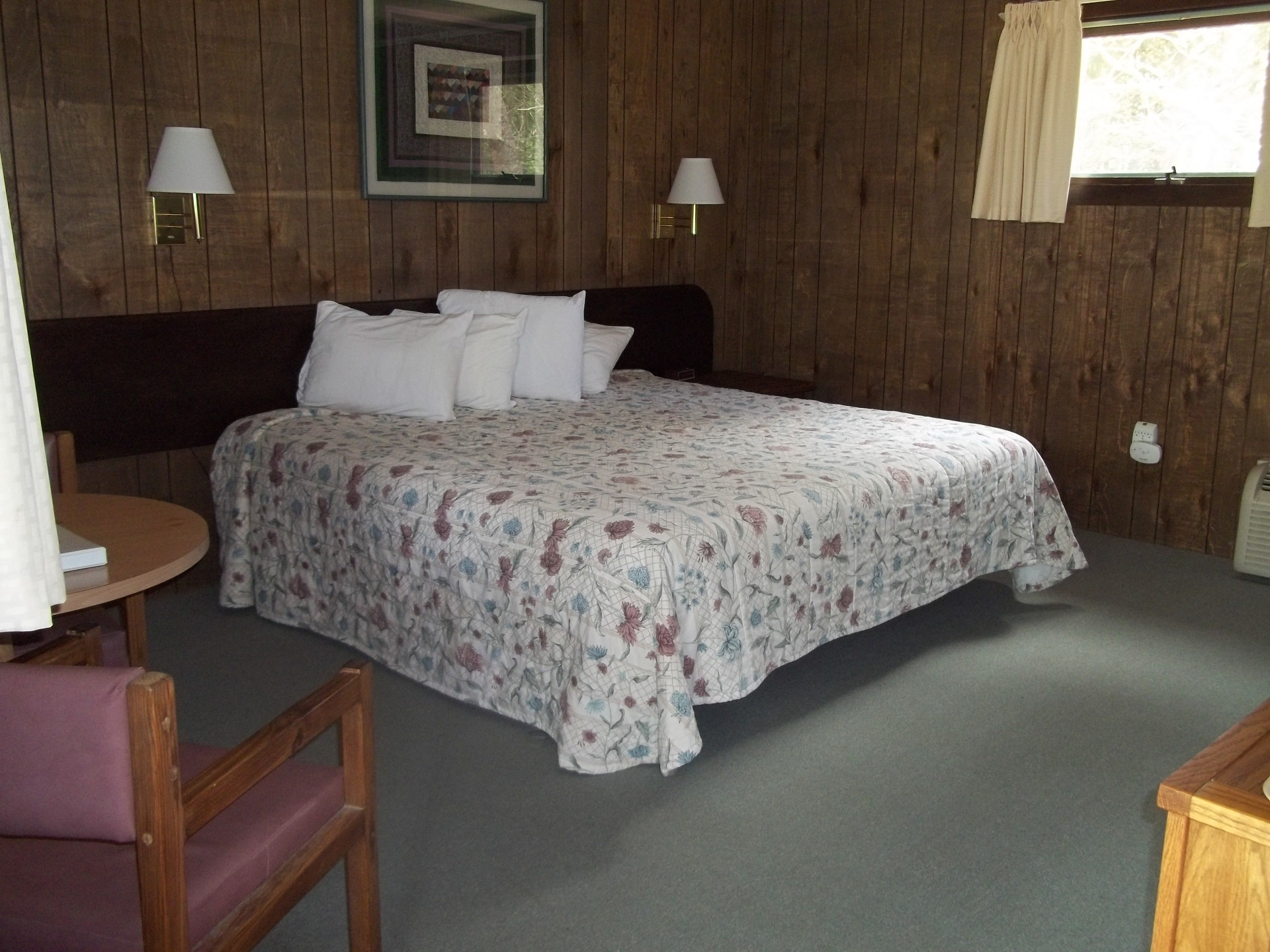 Motel Room with King Bed