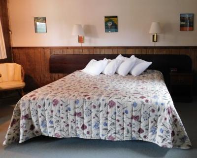 Motel Room King Bed