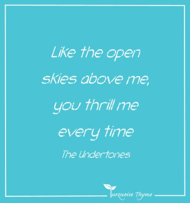 Turquoise Thyme Coaching - Like The Open Skies above me you thrill me every time