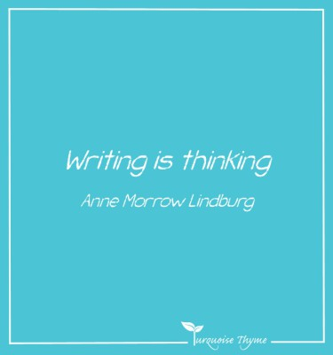 Business Coaching from Turquoise Thyme - Writing is thinking