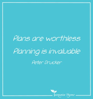 Business Coaching from Turquoise Thyme - Plans are worthless. Planning is invaluable
