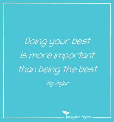Doing your best - Turquoise Thyme Business Coaching
