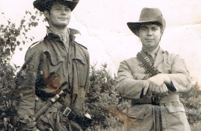 In my youth and part of a rifle team at Bisley. Note we dressed for the part