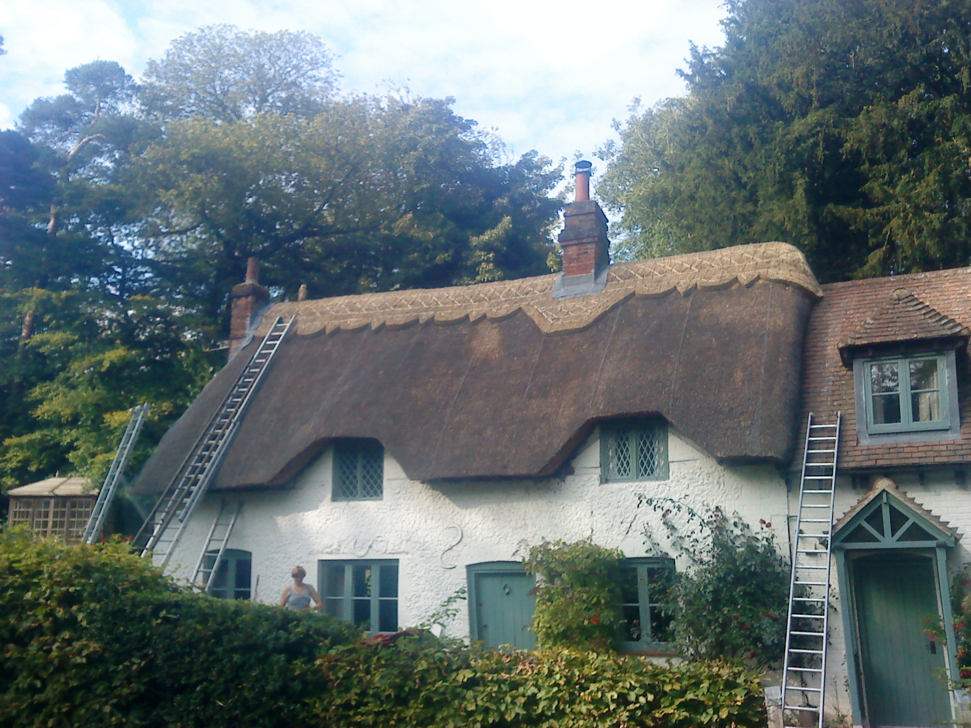 Re-Ridge on a Thatched House
