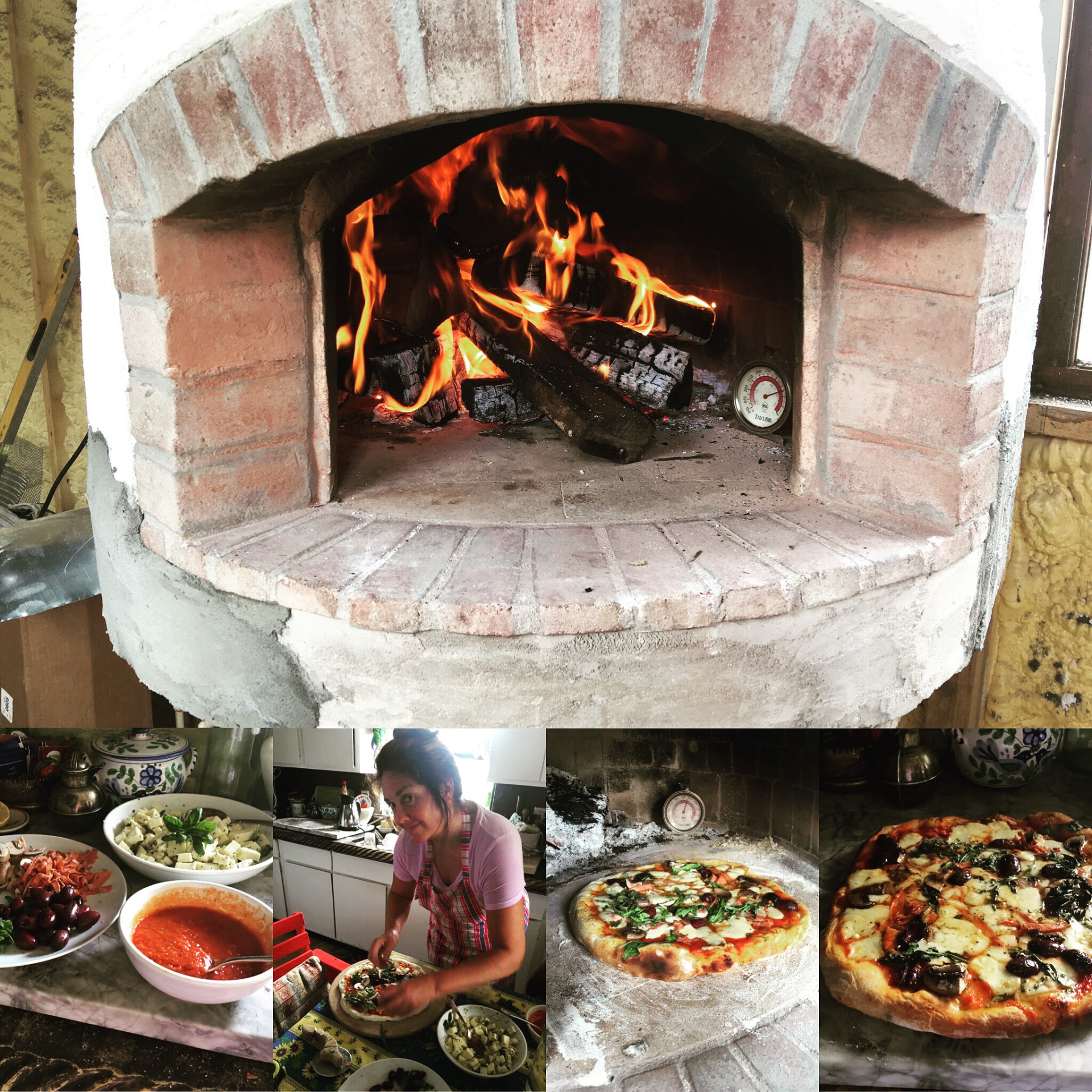 "Wood oven...""would oven""?....""could oven""?...DID! 😍"