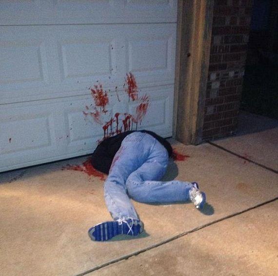 Using Your Garage Door in Halloween Decor