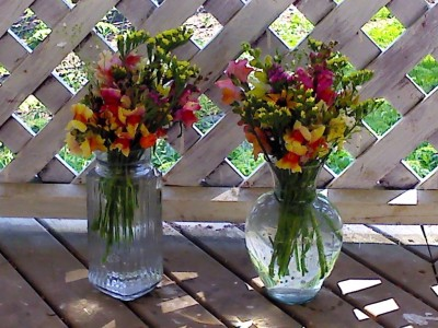 prepared flower bouquets