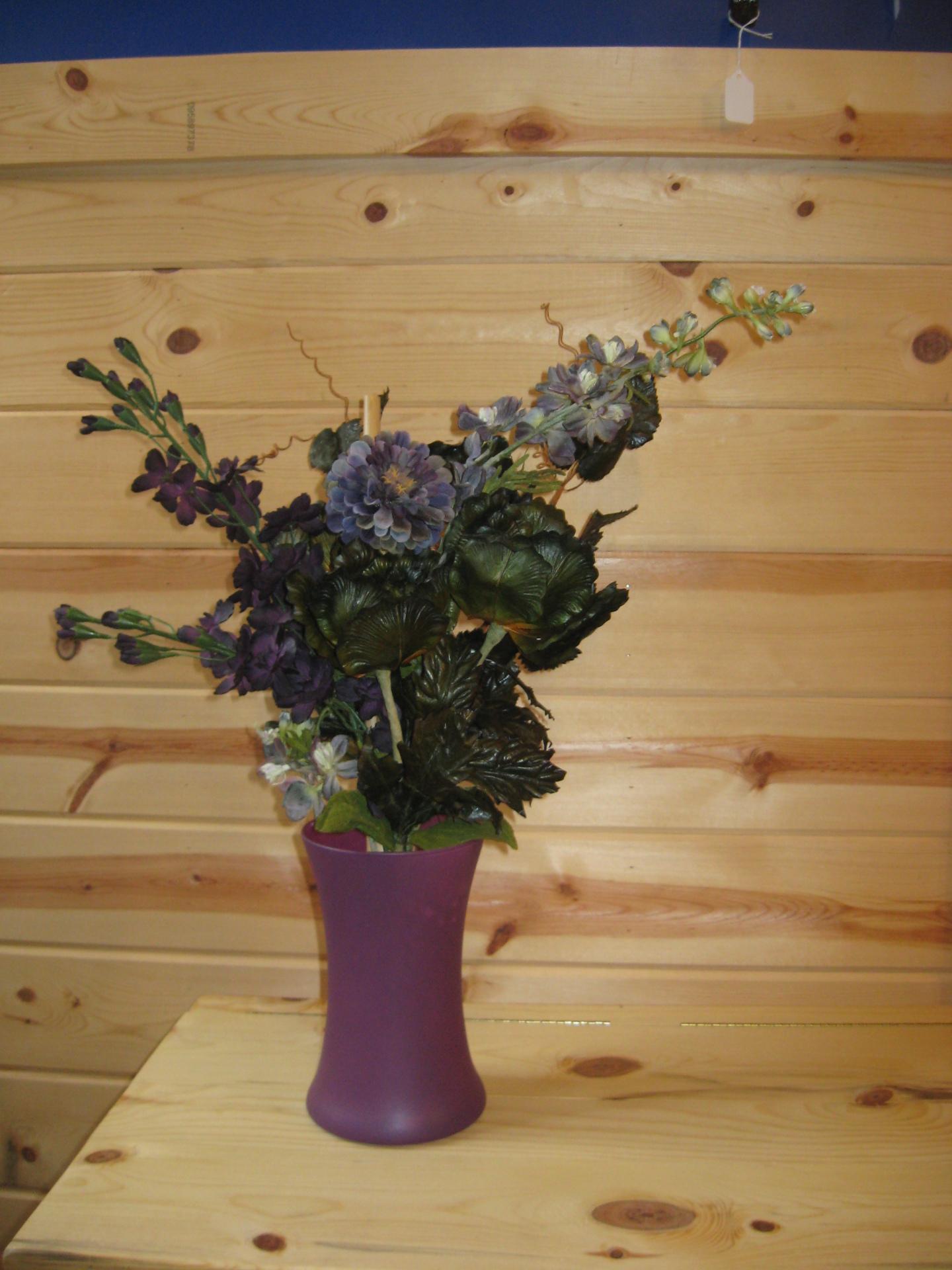 Purple Flower Arrangement $20