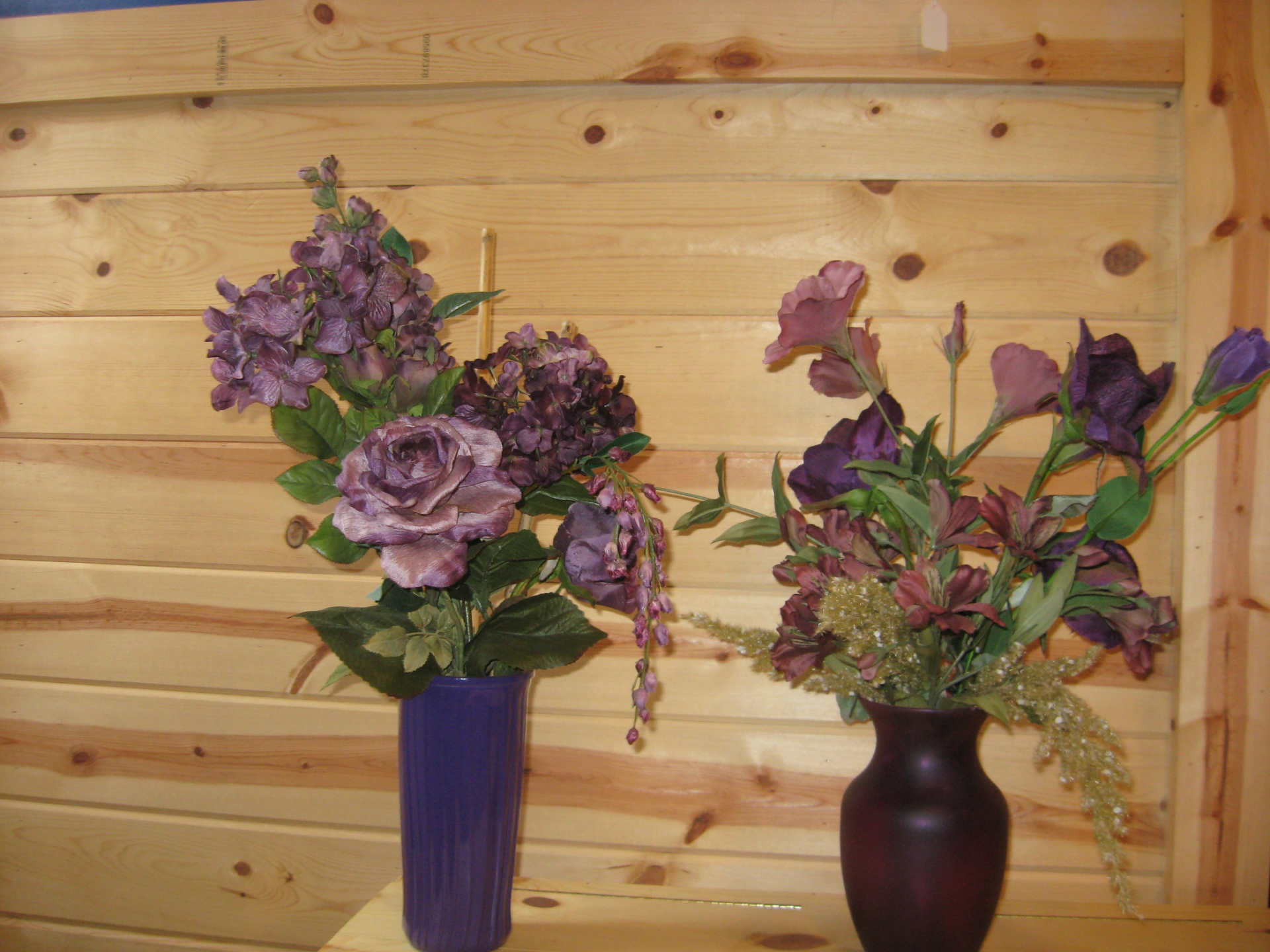 Purple Flower Arrangements $20
