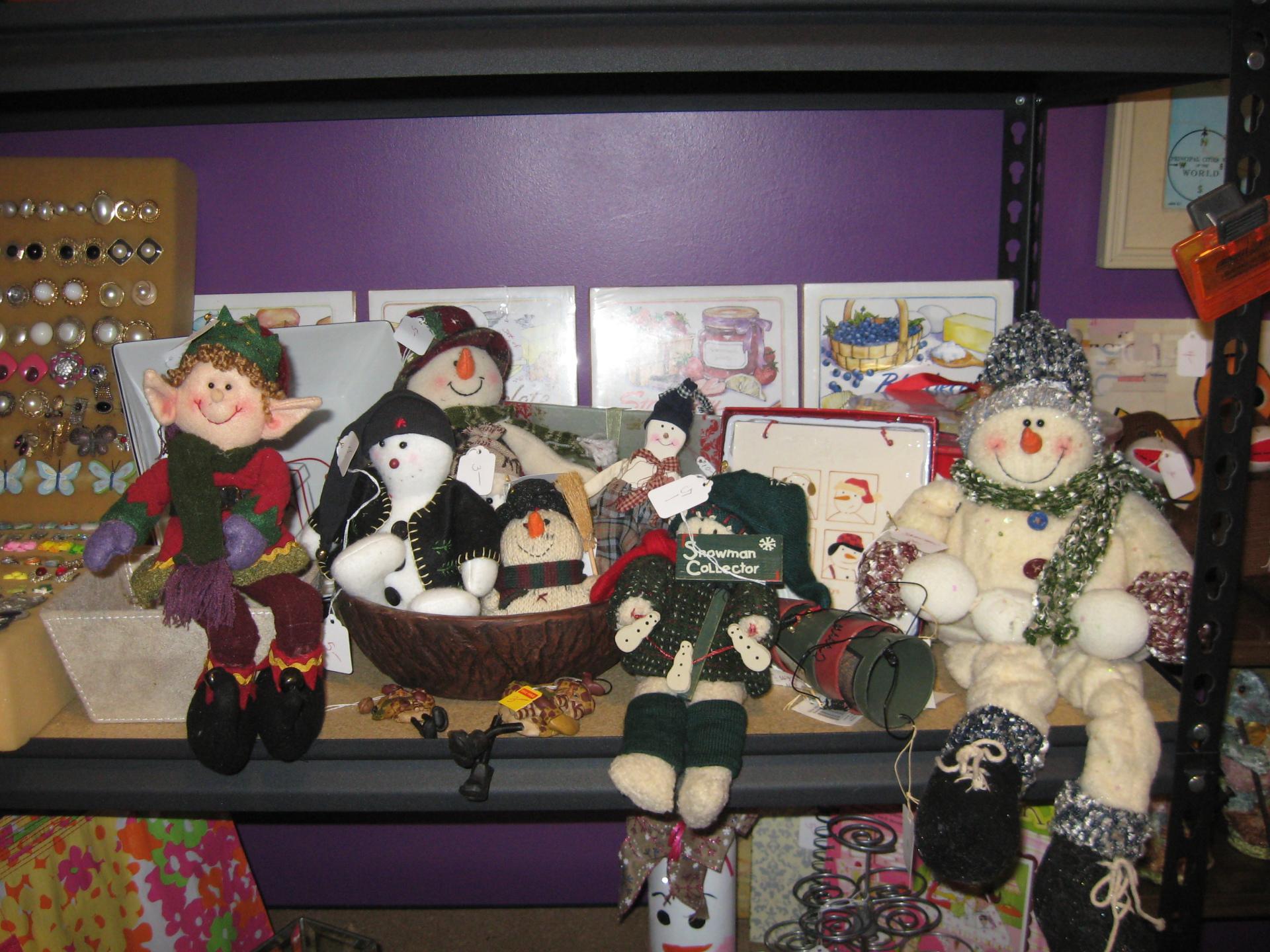 Lots of Snowmen Decorations