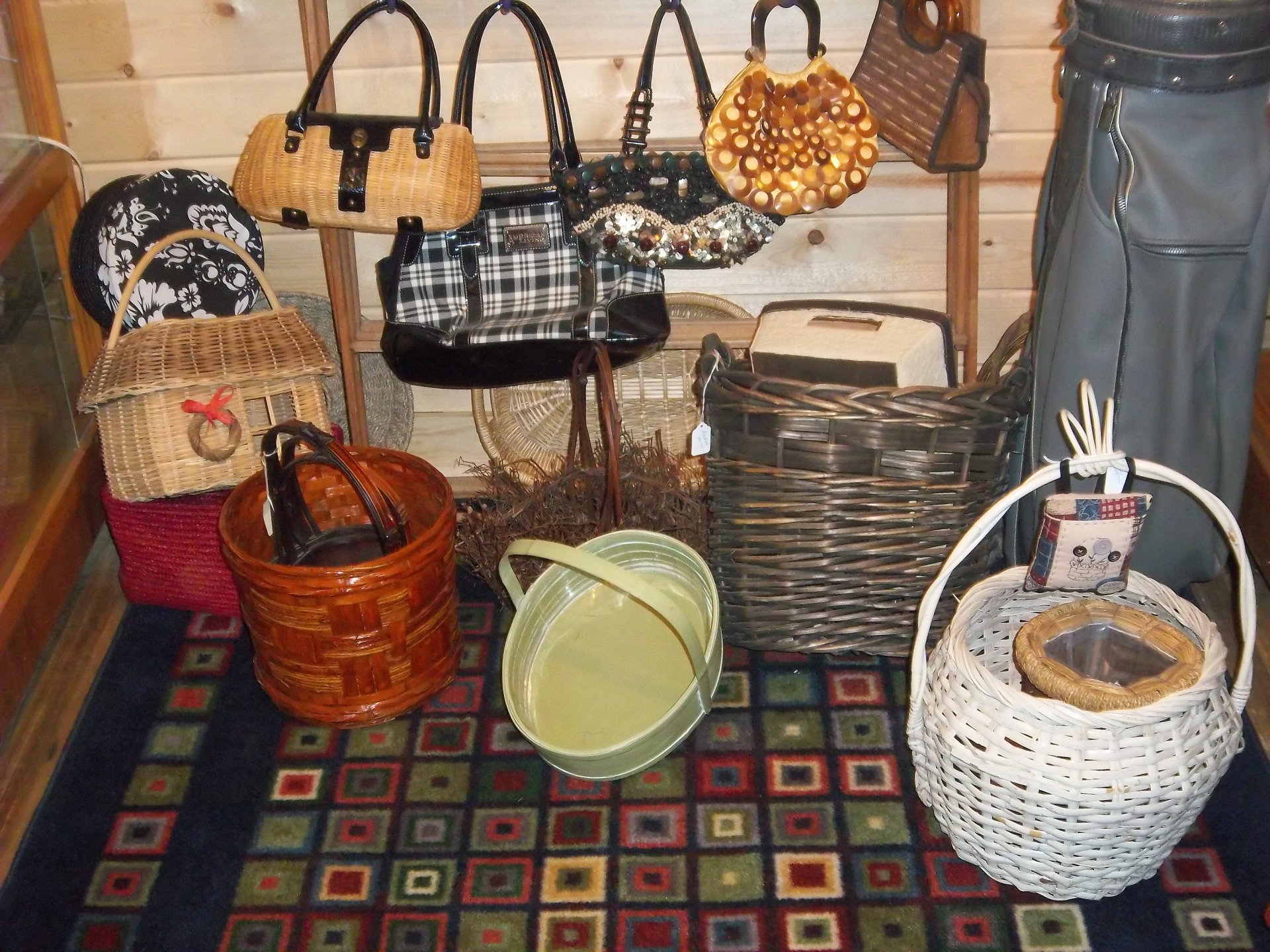 Assorted Baskets and Purses