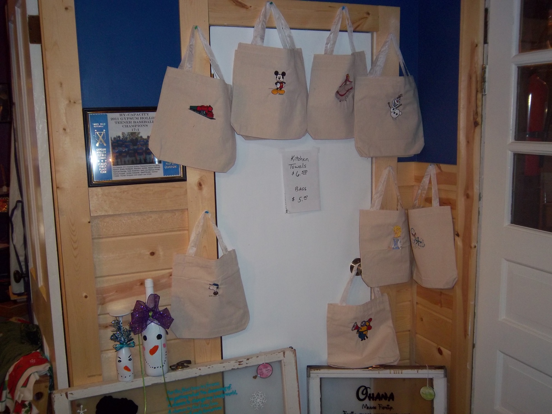 Embroidered Bags $5/Each