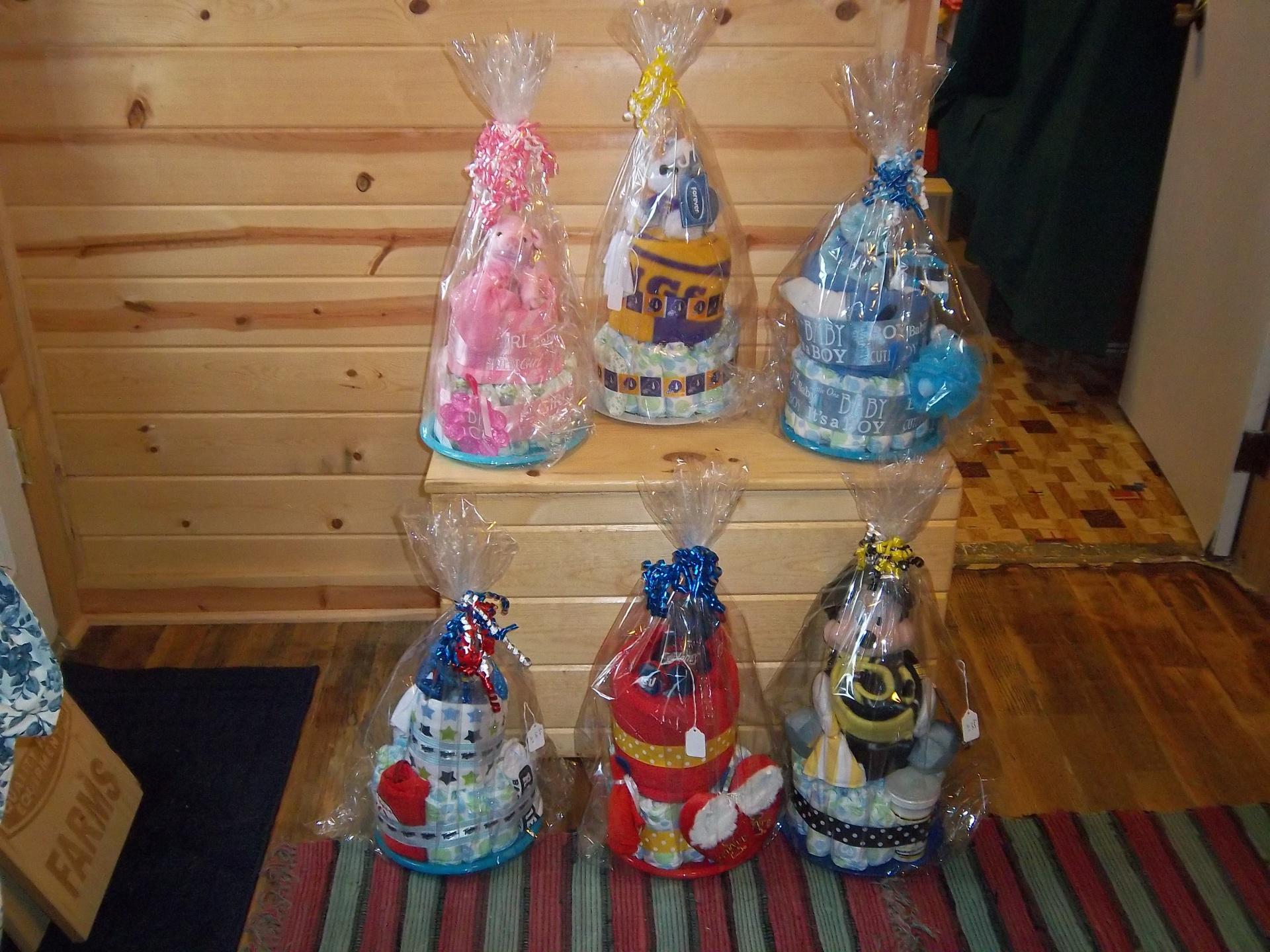 Diaper Cakes $30/Each