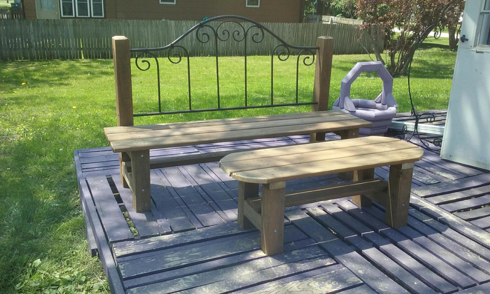 Heavy Duty outdoor bench and table