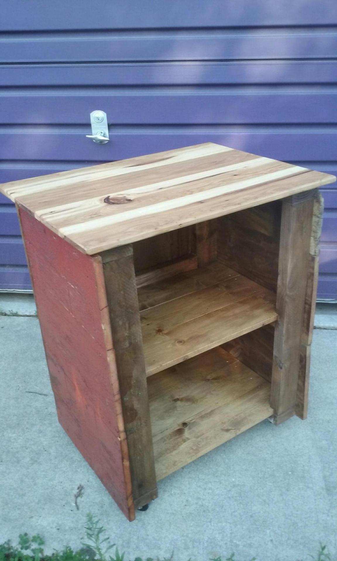 Utility Cart made with Barn Door Wood