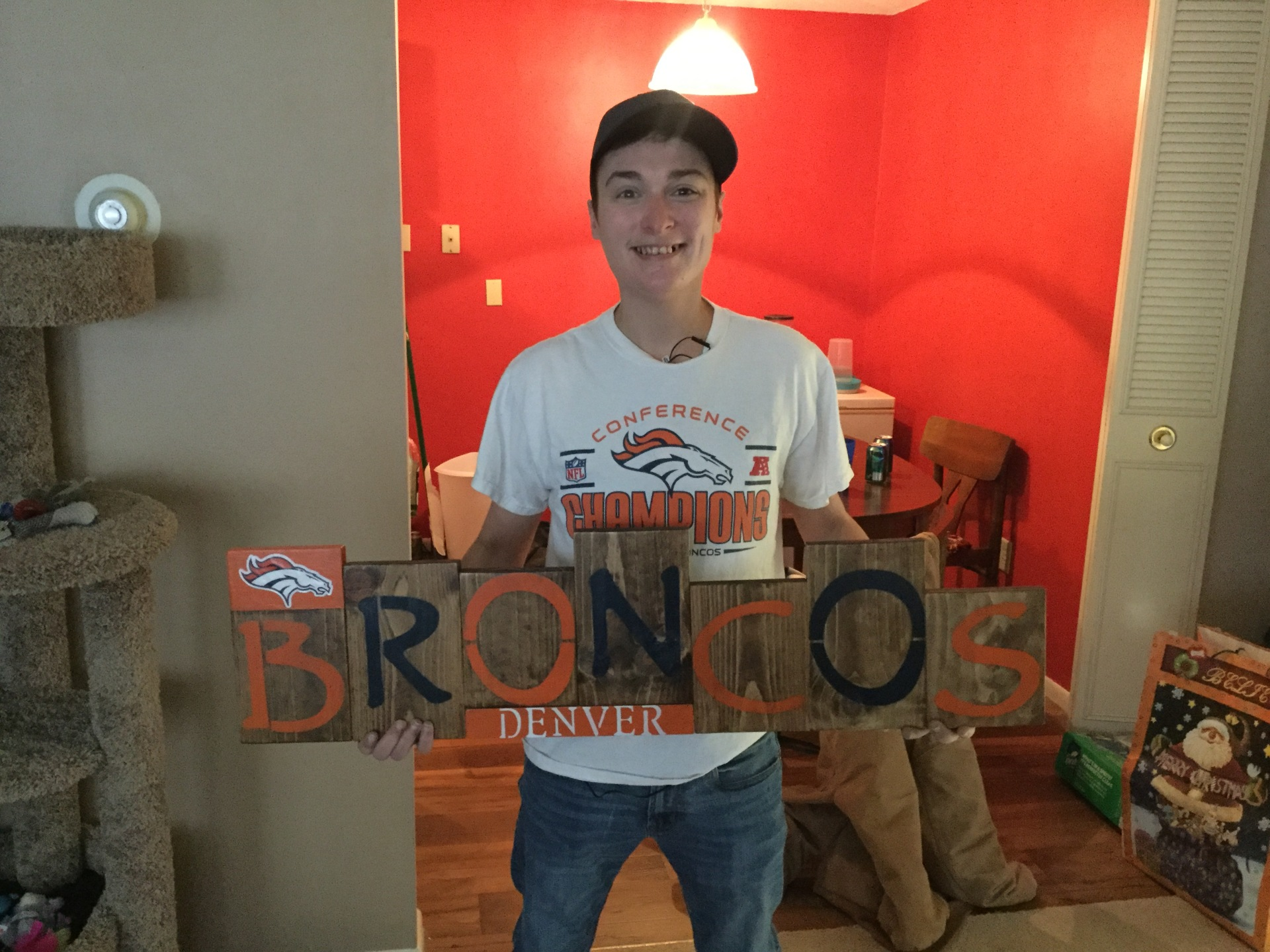 Custom BRONCOS Sign