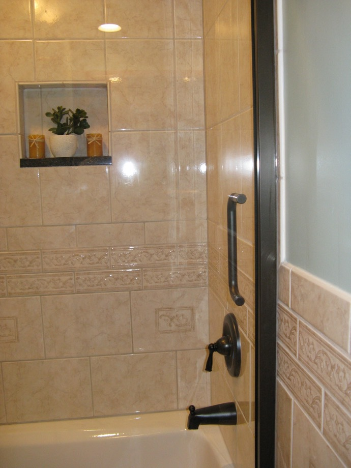 custom shower, bathroom remodel