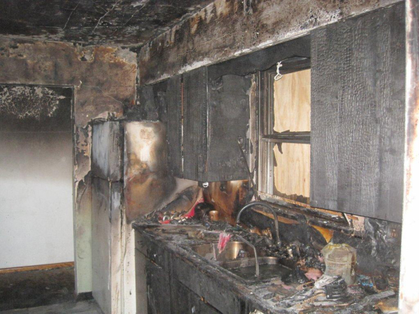 Fire Damage: Before