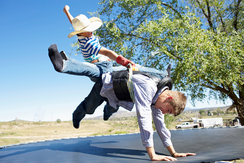 Mortensen Brothers, Bull Riding Practice, , Pauldine, AZ