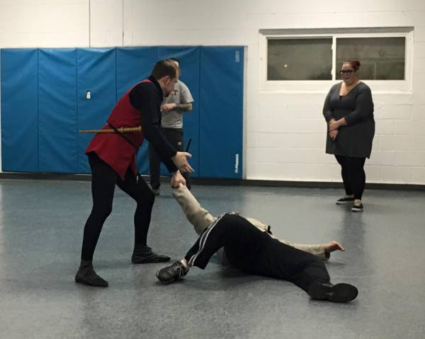 practicing our dagger defenses