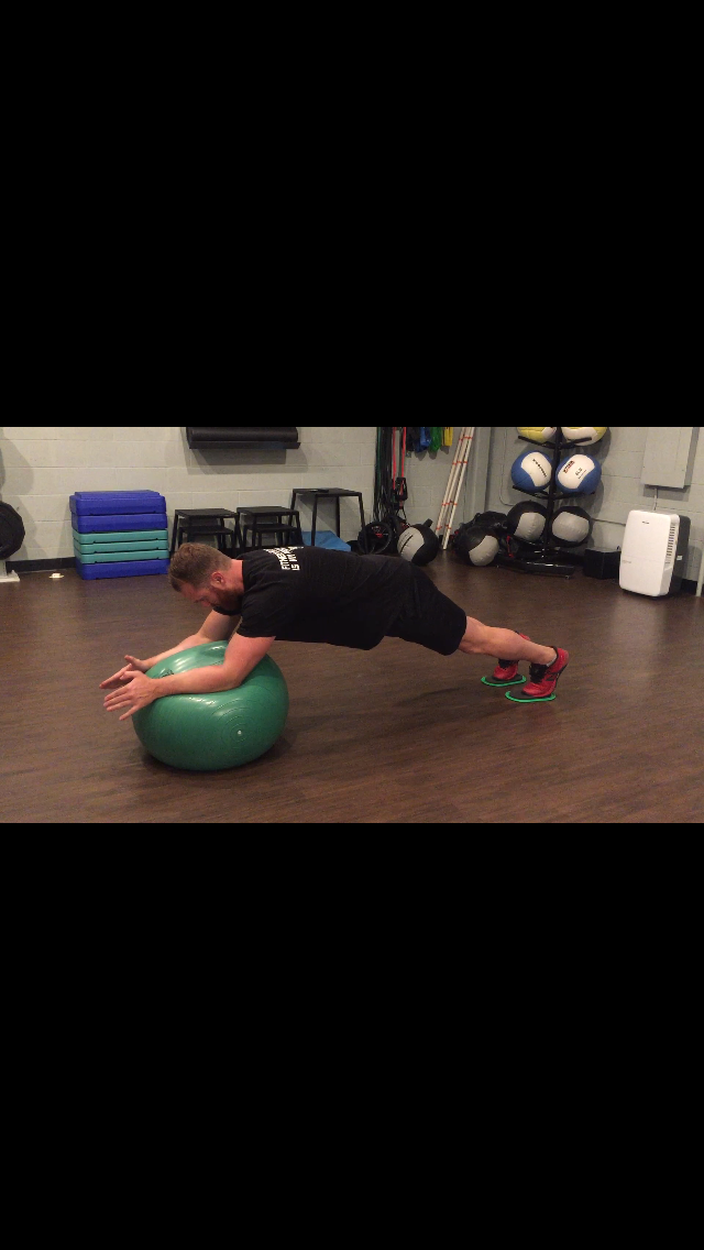 Stability Ball Rollout with Sliders (Video)