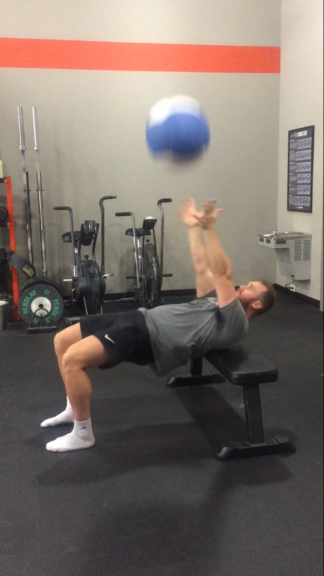 Hip Thrust with Explosive Medball Chest Pass (Video)