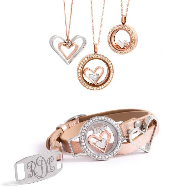 Rose Gold Wrap with Lockets