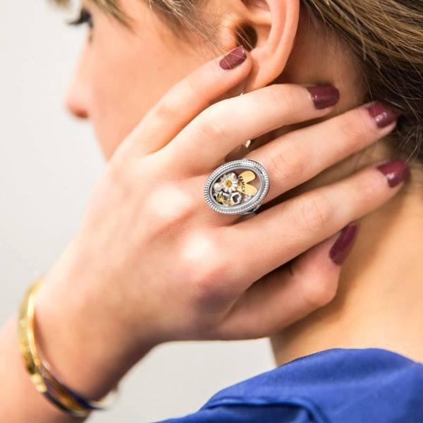 Silver Heirloom Locket Ring