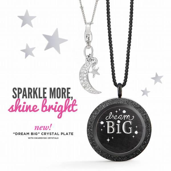 Dream Big Reversible Plate and Moon & Star Dangle
