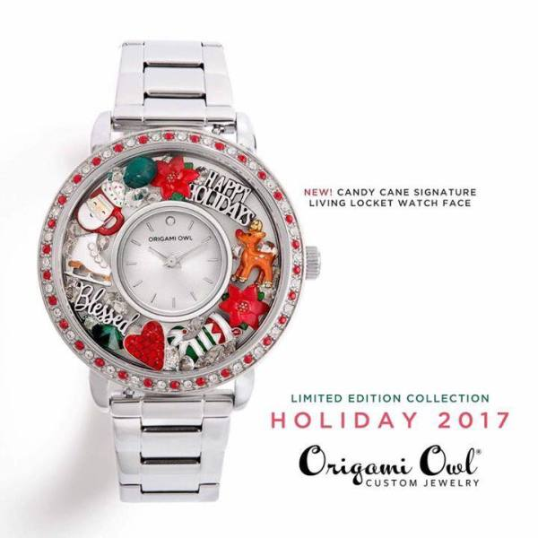 Candy Cane Silver Watch Face