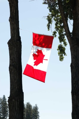 Image of Canadian flag to represent July 1st Canada's birthday