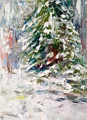 winter [rl study] - 12 x 16 - oil - $195