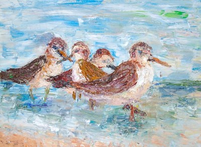 sandpipers - 24 x 18 - oil - COMMISSIONED