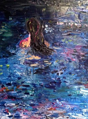 night swim - 18 x 24 - oil - SOLD