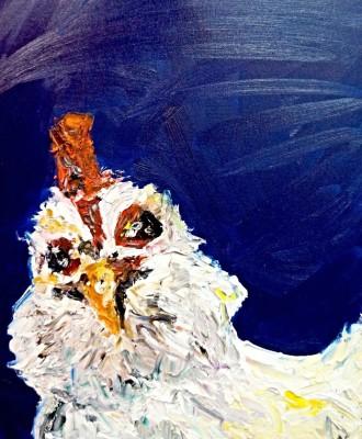 chicken - 16 x 20 - oil -  SOLD