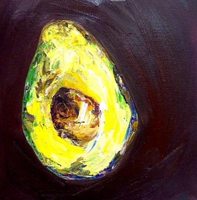 avocado - 12 x 12 - oil - SOLD