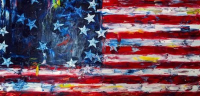 america - 48 x 24 - oil - COMMISSIONED