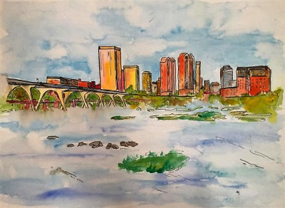RVA - 11 x 15 - watercolor/ink - COMMISSIONED
