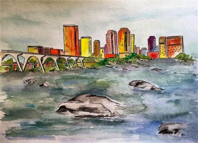 RVA ii - 11 x 15 - watercolor/ink - COMMISSIONED