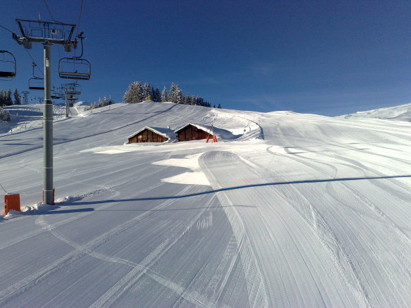 Groomed piste for all abilities